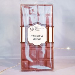 Tablette de chocolat Whiskey et raisin - Chocolat Mr Sweet