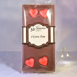 Tablette de chocolat I love you - Chocolat Mr Sweet