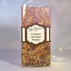 Tablette de chocolat caramel, noisettes et pralines - Chocolat Mr Sweet