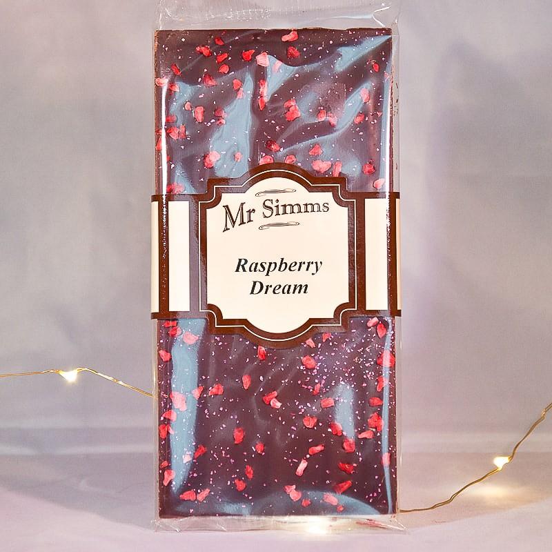 Tablette de chocolat noir et framboise - Chocolat Mr Sweet