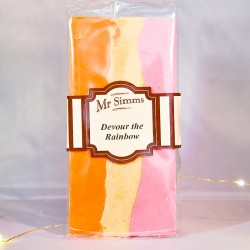 Tablette chocolat blanc Arc en ciel - Chocolat Mr Sweet