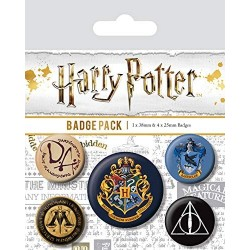 Pack 5 badges Harry Potter