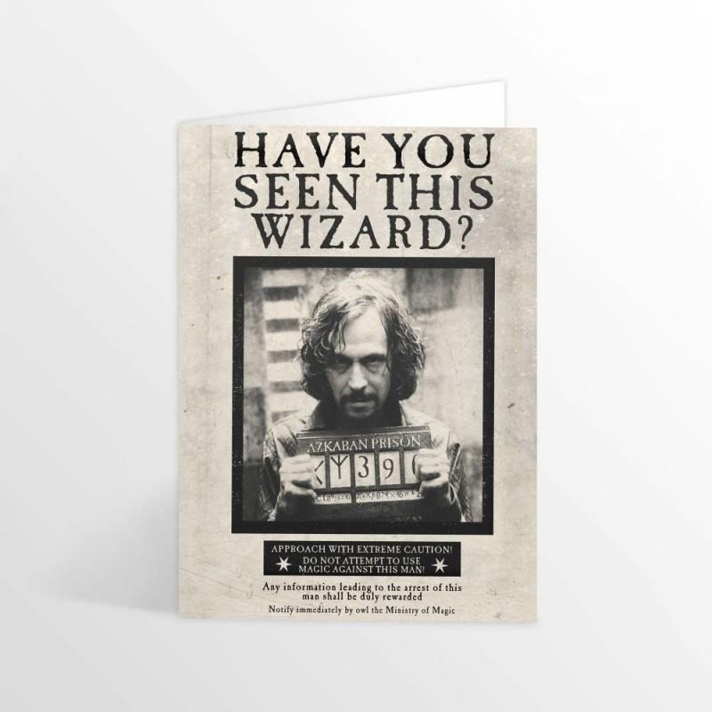 Carte de voeux 3D Sirius Black - Mr Sweet